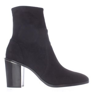 Michael Kors Chase Black Suede Ankle Boots